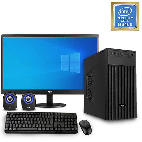 Desktop PC - Basic Pentium Set - G6400\NoOS + Monitor\KBM\SP