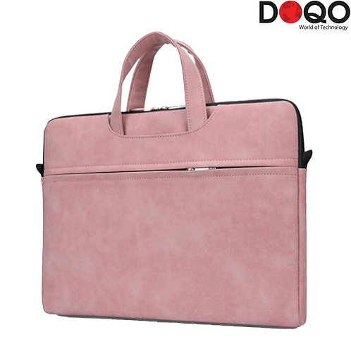 "DOQO - Laptop Bag - B021 Pink - 15.6"""