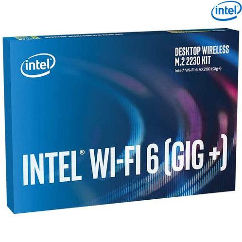 Intel - Desktop Wireless M.2 2230 Kit - Wi-Fi 6 AX200 (GIG+) + Bluetooth 5