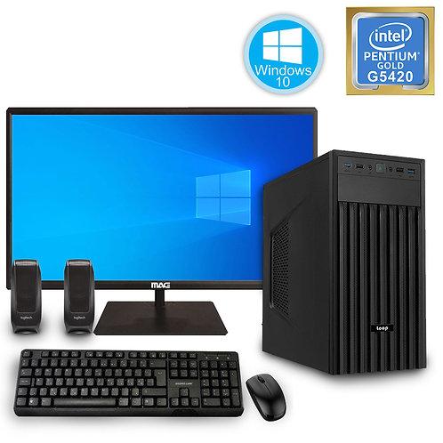 Desktop PC - G5420\4GB\240GB\Win10 + Monitor\KBM\SP