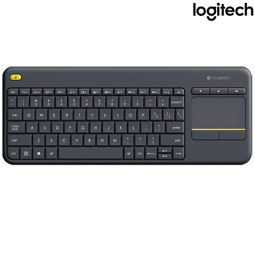 Logitech - K400 Plus Media with Touchpad (HEB) - Black