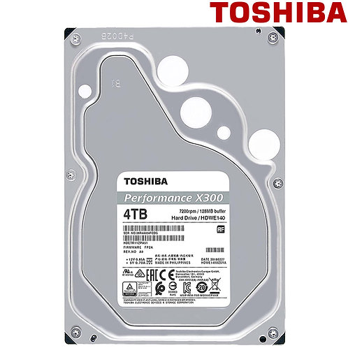 "Toshiba - 4TB - X300 - 3.5"" 7200RPM SATA HDD"