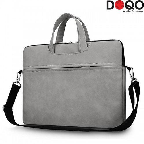"DOQO - Laptop Bag - B021 Grey - 15.6"""