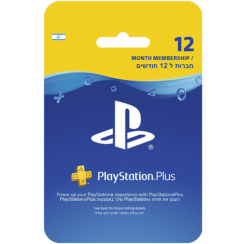 Sony - PlayStation Plus - 12 Months - Card