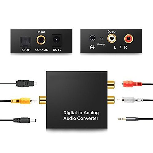 Digital (Optical, Coax) to Analog (AUX, RCA) Converter