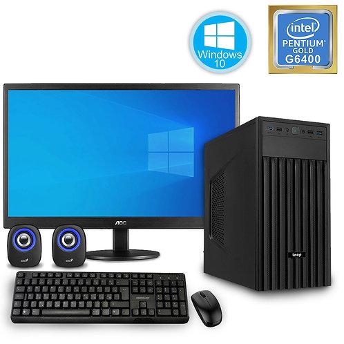 Desktop PC - Basic Pentium Set - G6400\Windows10 + Monitor\KBM\SP
