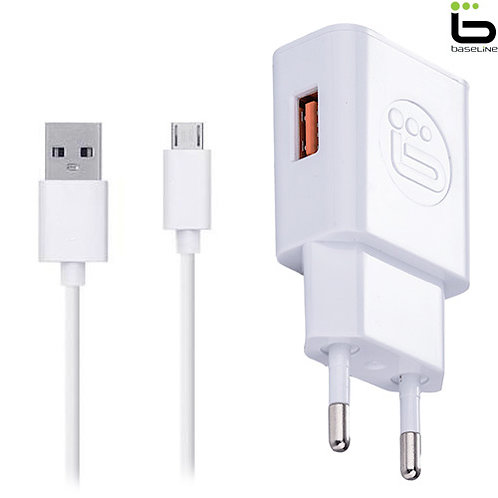 Baseline - Fast Charger + Micro USB Data Cable