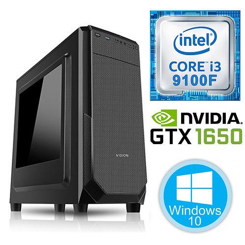 Desktop PC - i3-9100F\8GB\256GB\GTX1650-4GB\Win10