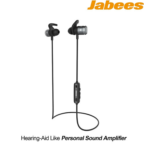 Jabees - AMPSound (Bluetooth Headphones + Hearing Aid Device) - 4-5 Hours