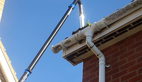 SkyVac will clear even the most stubborn of gutters!
