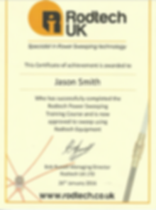 certificate for chimney sweeping