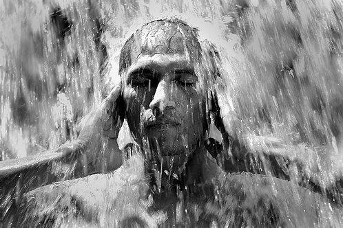 Portrait Chute d'eau Pérou 20x30