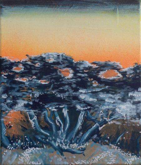 Acrylique sur toile  30 cm x 24 cm 2016