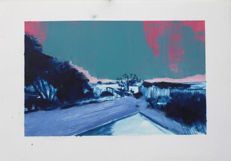 Huile sur Papier 29,70 cm x 21 cm  2016