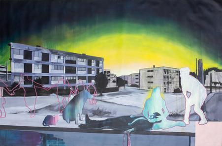 Acrylique sur toile  195 cm x 97 cm 2017