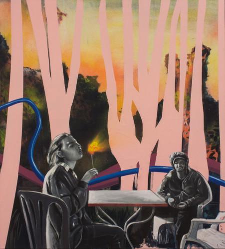 Acrylique sur toile  90 cm x 80 cm 2016