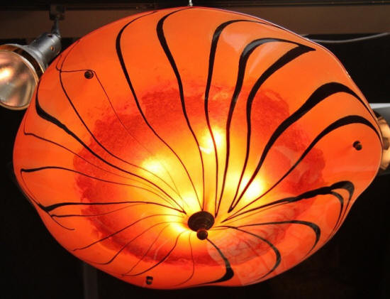 Orange Glass Light