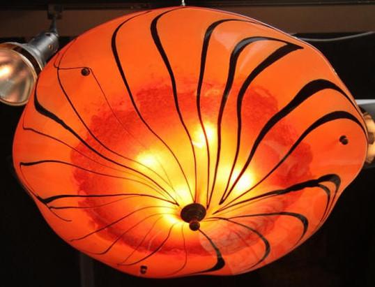 Orange Glass Light