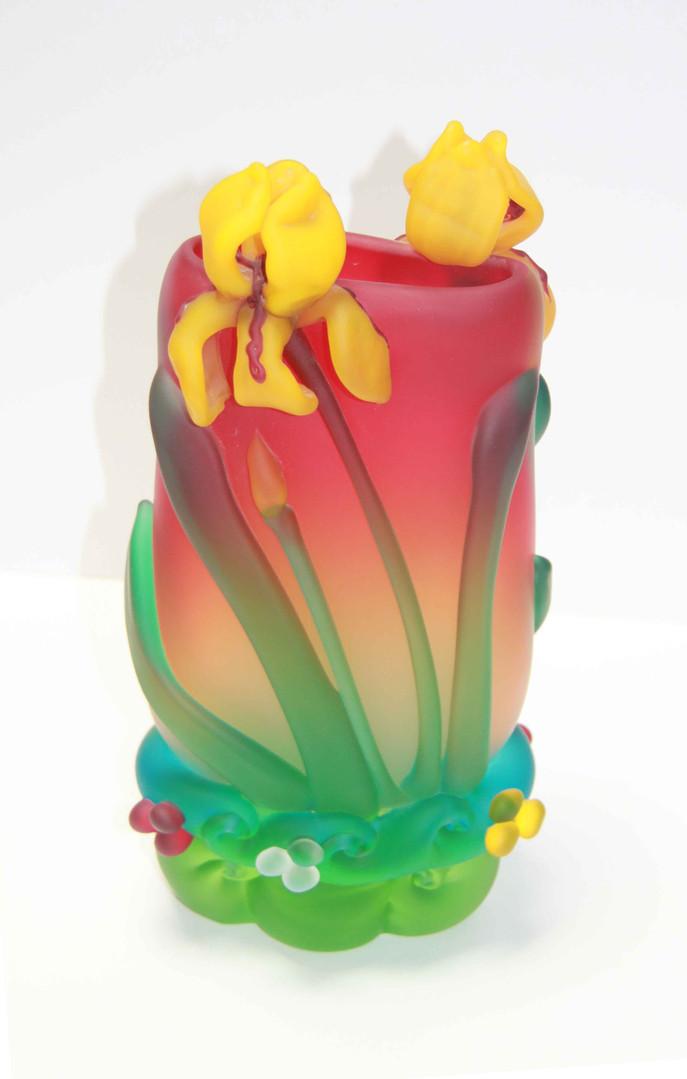 Rush Iris Vase