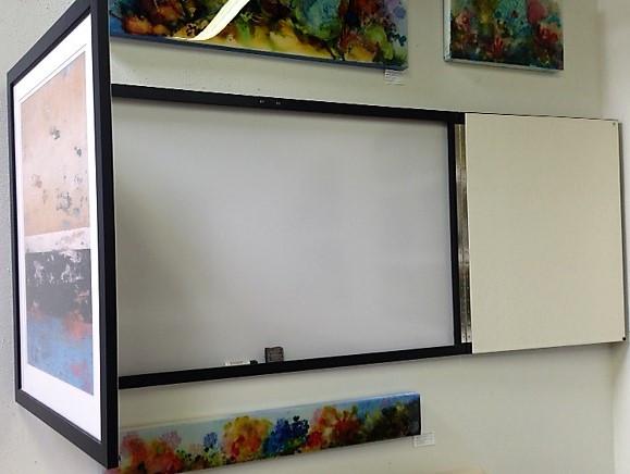 Hidden Marker board with doors open.  ma
