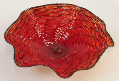 Red Glass Plater