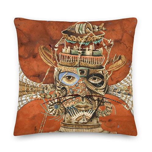 Pyrography Duality  Premium Pillow