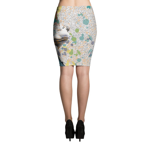Axis (Osunlade Collage Inspired Pencil Skirt)