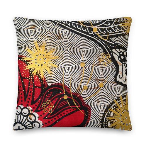 The Flaming Rose Premium Pillow