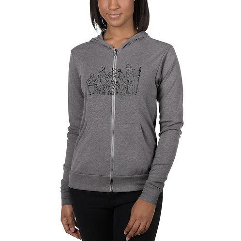 Yoruba Unisex zip hoodie