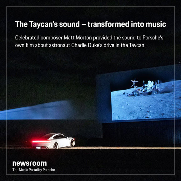 'The Speed of Sound' - Porsche's story about Matt Morton's scoring process for the short film 'Electric Pioneers:  Charlie Duke and the Porsche Taycan'