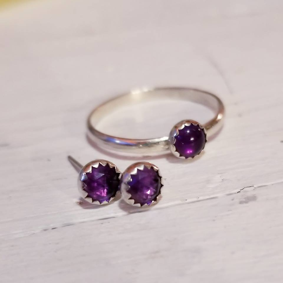 Amethyst 5mm; Custom