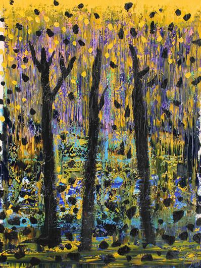 Wald 2, 130 x 100 cm oil 2018 r._edytowa