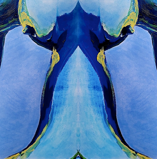 Body Abstract II (blue), 2020