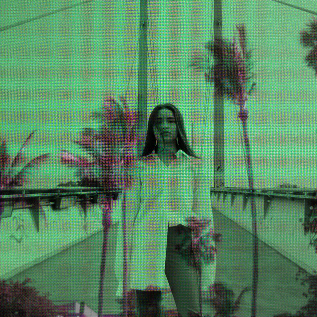 california beauty print green