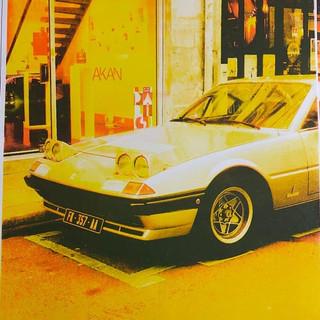 yellow car risograph print