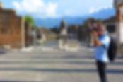 Passeando pelo Foro de Pompéia