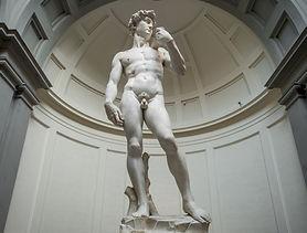 Daví do Michelangelo na Tribuna da Galeria da Academia de Florença