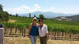Visitando os vinhedos da produção de Brunello de Motalcino
