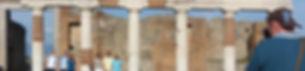 Fórum de Pompéia com guia oficial de Pompéi