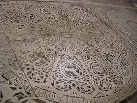 Piso em mosaico com o zodíaco do iteriordo Batistério de Florença