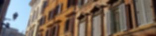 Janelas do centro histórico de Roma