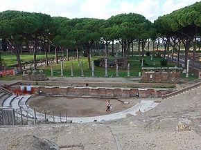 Teatro de Óstia Antiga ns arredores de Roma