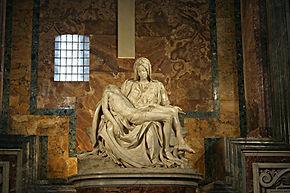 Pietá com guia particular em português