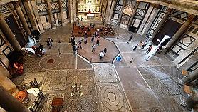 Visão geral do interior do Batistério de Florença