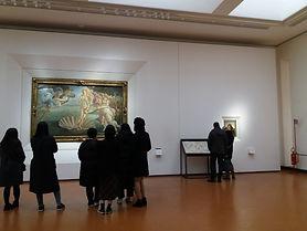 Um dos salões de Botticelli