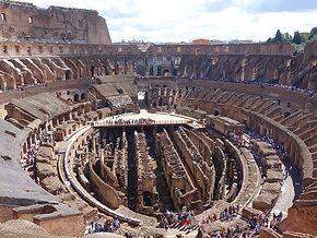 Vista do primeiro andar do Coliseu