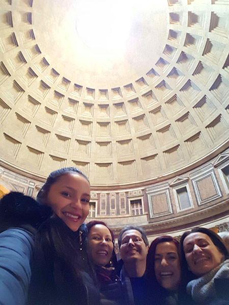 Pantheon de Roma com guia em português