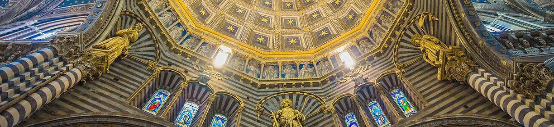Interior cúpola Duomo Siena, passeio personalizado com guia particular