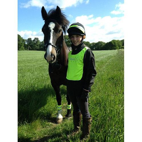 HI VIS YELLOW TABARD, HORSE LEG BOOTS AND HAT BAND - ECO RANGE