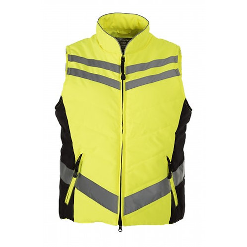 QUILTED HI VIS GILET -YELLOW